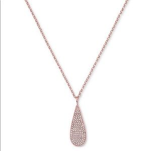 Ralph Lauren Rose Gold-Tone Pavé Teardrop Necklace